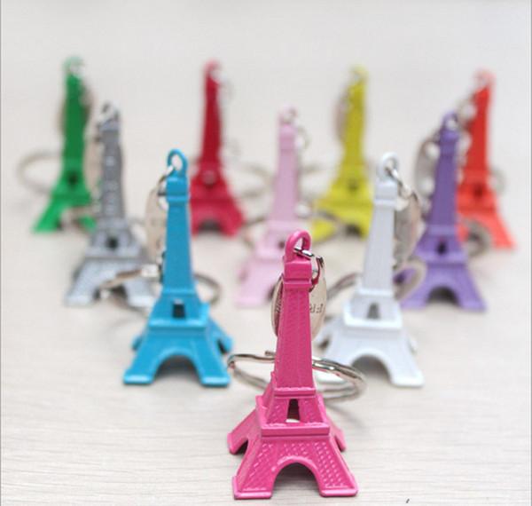 Retro Mini Decoração Torre Eiffel Chaveiro Paris Tour Presente Chave Titular Chaveiro Mulheres Saco Charme Pingente