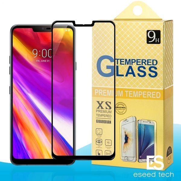 Para LG G7 G6 G5 G4 aristo 2 Xpower V10 V20 V30 K7 K8 K20 K30 K30 Plus 2.5D Cubierta completa Protector de pantalla de cristal templado Flim para samsung J2 CORE
