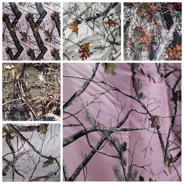 Camo raso tessuti fai da te abiti da sposa Camouflage albero reale Nevicate Tessuti tessuto del raso all'ingrosso vendita poco costosa