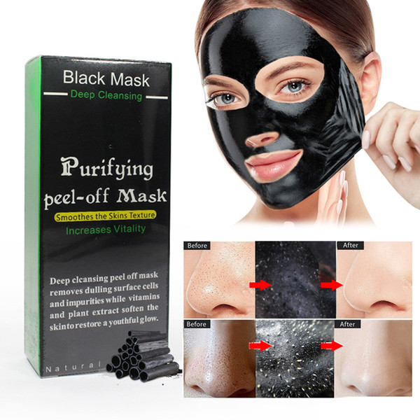 Blackhead Remove Facial Masks Deep Cleansing Purifying Peel Off Black Nud Facail Face black Mask 50ml