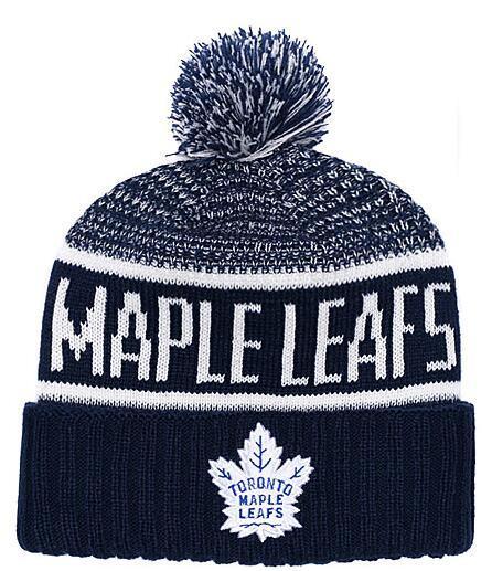 Nuevos gorros Maple Leafs Hockey 2018 Hot Knit Beanie Pom Knit Sombreros Navy Béisbol Fútbol Baloncesto Deporte Gorros Mezcla Combinación Ordenar Todos Gorras