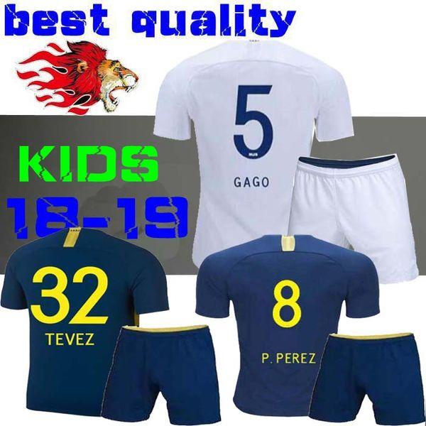 kids 2018 2019 Boca Juniors Soccer Jerseys GAGO CARLITOS HOME AWAY Football jersey shirts Boca Junior 18 19 Child BOYS TEVEZ