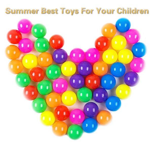 Boule en plastique 100% sans phtalate, sans BPA, sans bille, Pit Balls pour enfants, Ocea Ball, Ball Pit Pits Summer, meilleurs jouets pour vos enfants