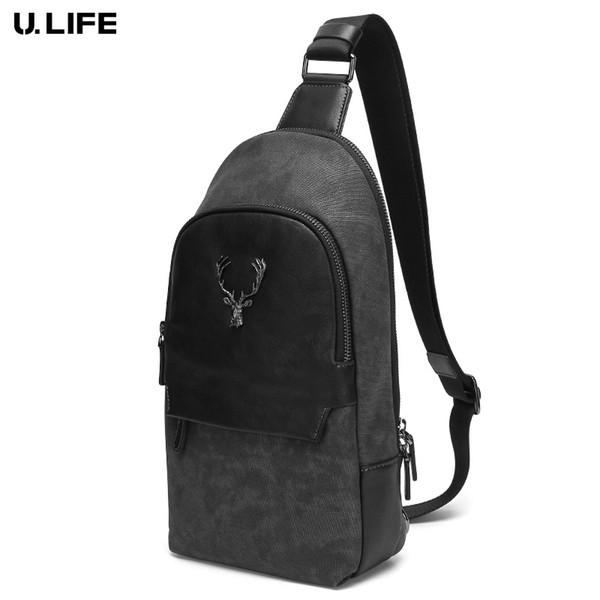 Bolsas Crossbody de los hombres de hombro bolso bolsos pecho diseñador bolsa de mensajero de cuero de los hombres de 2018 Nueva Mochila viaje J50