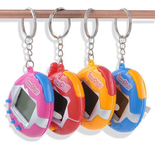 1 PC 색상 랜덤 가상 사이버 디지털 애완 동물 전자 Tamagochi 애완 동물 복고풍 게임 재미있는 장난감 핸드 헬드 게임기 선물에 대한