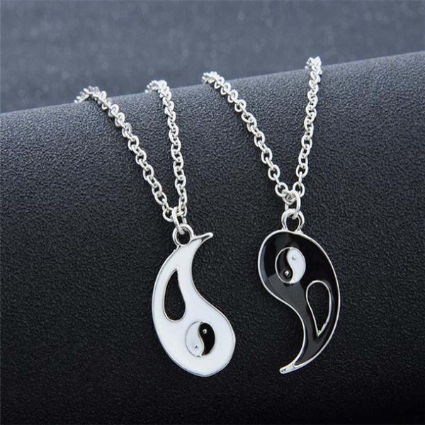 Joining together necklace Tai chi bagua pendants lovers necklace of Yin and Yang