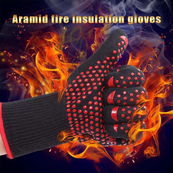 1 пара бесплатная доставка арамидные противопожарные перчатки термостойкие перчатки 932f барбекю перчатки духовка кухня перчатки прямые поставки D18110705