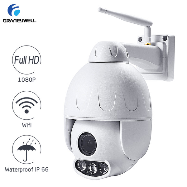 Graneywell Wifi Camera 1080P 2.0MP 5X Optical Zoom Wireless Security Camera Two-way Audio Smart P2P Waterproof IP