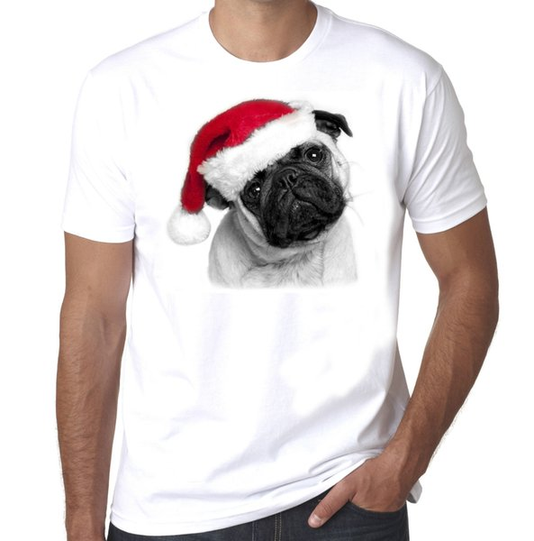 Noël Carlin Puglife Festive mens 100% coton t-shirt de bande dessinée t-shirt hommes Unisexe New Fashion t-shirt Loose