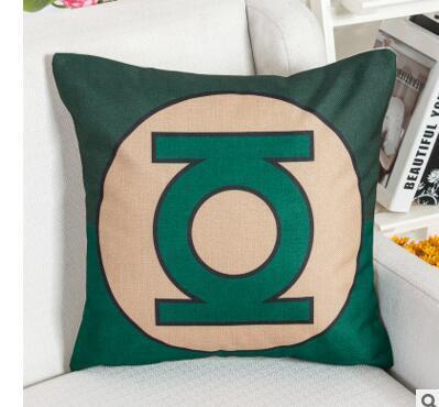 free shippingSuper Hero Cushion Cover Spider Bat Iron Cushion man Covers Sofa Throws Decorative Linen Pillow Case Gift For Kids AQI-132