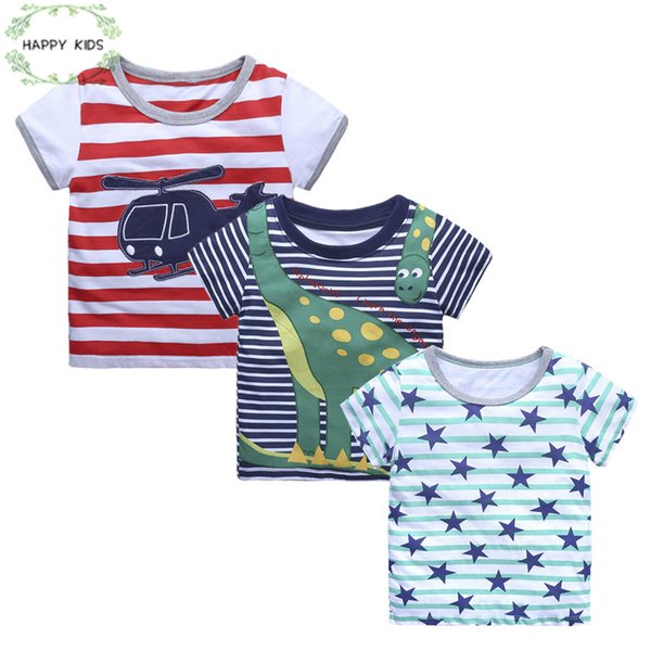 New 2018 children t shirts casual Tee star design printing Baby Boy Tops Short Sleeve T-Shirt Summer Tee for boy 1-6Y