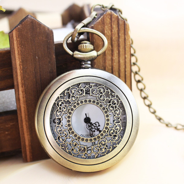 Retro clamshell hollow-out the elderly men electronic water-resistant classic clear is supe digital pocket watch