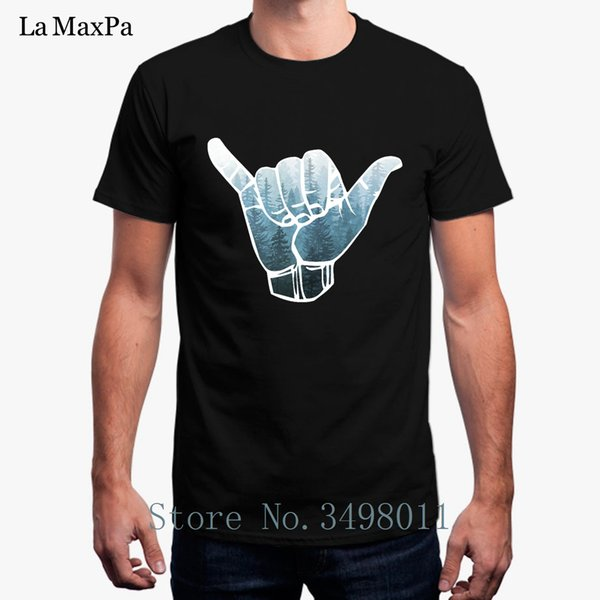Free Shipping Misty Forest Hang Loose T-Shirt For Men Summer 100% Cotton Tee Shirt Costume Plus Size Men T Shirt Short Sleeves