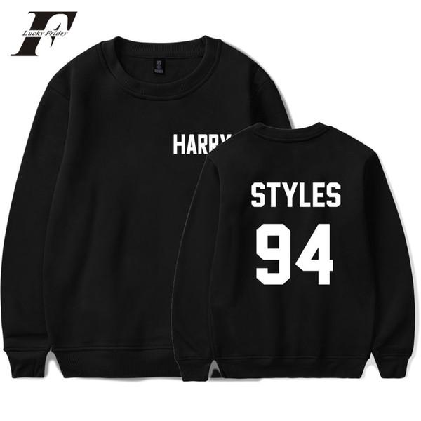 One Direction Harry Styles Harajuku Casual Felpe da uomo Felpa Streetwear O Collo Autunno Felpe Uomini / Donne Fan