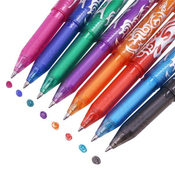 80 pcs Tip 0.5MM Erasable Ballpoint Pen Highlighter Color Ink Erasable Pen Cheaper 8 Colors Available