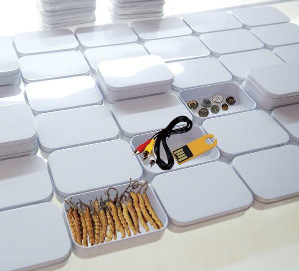 Free Shipping 94x59x21mm Rectangle white tea tin box mint packing box pill candy jewelry storage box
