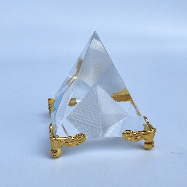 Hot Religious Gift Egypt K9 Laser Engraving Crystal Pyramid for souvenir gifts
