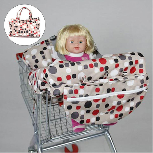 Foldable Baby Shopping Trolley Cart Seat Pad Child High Chair Cover Protector Nappy Changing Cover Baby Outdoors Supplies