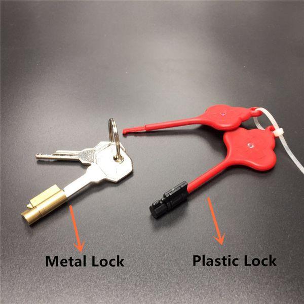 PlasticMetal Magic Lock For Chastity Cage Nuovi accessori per castità