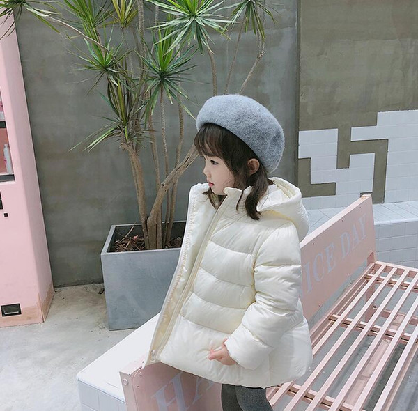 best selling Wholesale sales 2018 new girls down jacket hooded comfortable warm white Down Coat