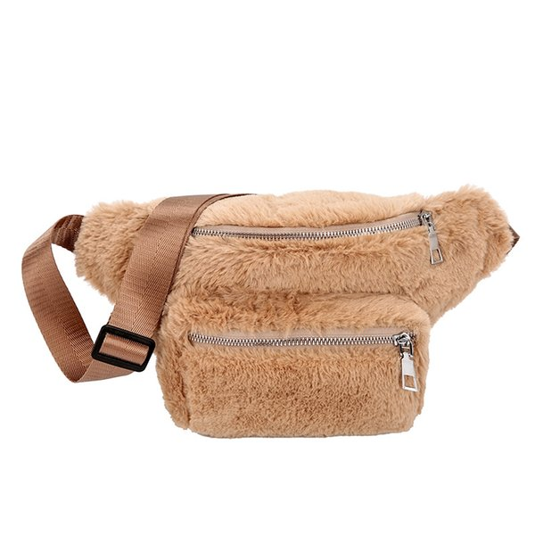 Ins Super Fire Small Bag Women 2018 Autumn New Wave Plush Chest Bag Korean Version of The Wild Hair Personalized