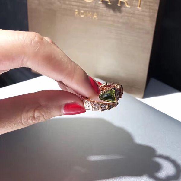 Serpent anneau anneaux VIPER Italie marque Muse cornaline anneaux bijoux cadeau du jour de PS5556 femmes anneaux fête de mariage de luxe Charm Valentine