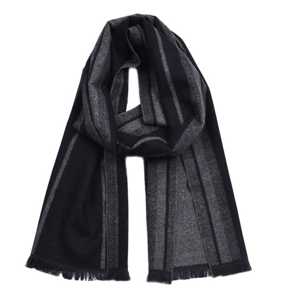 Guttavalli Fashion Men British StyleDouble Sides Woven Long Warm Shawl Winter Geometric Cotton Scarves Male Chevron Stripe Scarf