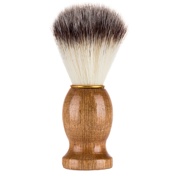 50pcs DHL free shipping Men's Shaving Brush Barber Salon Men Facial Beard Cleaning Appliance Shave Tool Razor Brush with Wood Handle for men