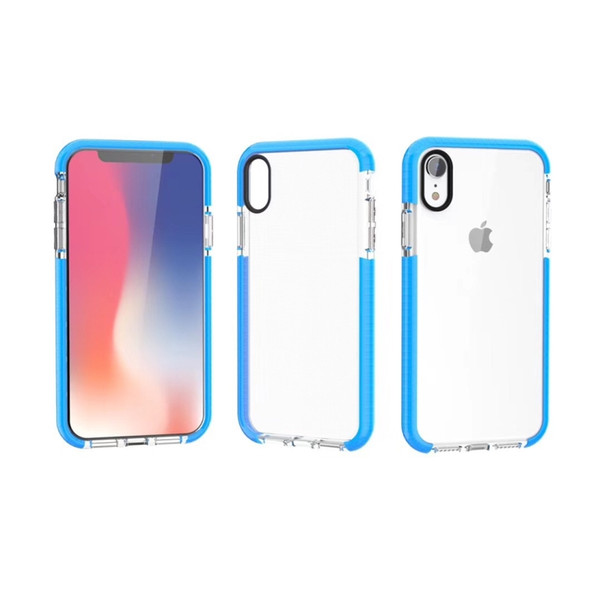 Factory Price Transparent Clear Case for iPhone XR XS Max 6.1 6.5Inch TPE Color Bumper TPU Crystal Plate Back Cover