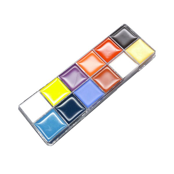 12 Color Face Paint Oil Safe & Non-Toxic Face and Body Crayons - Painting Art Party Fancy Make Up Set
