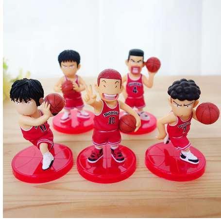 5pcs PVC Slamdunk Shohoku Anzai Hanamichi Sakuragi Takenori Akagi Kaede Action Figure Toys, 7cm Slam Dunk Figures Kids Toy