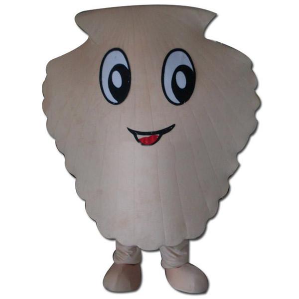 Скидка на продажу завода 2018 Симпатичные белые раковины костюм талисмана Необычные платья для вечеринок Хэллоуин карнавальные костюмы