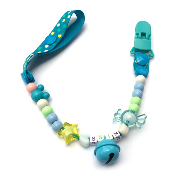 Handmade Personalized Dummy Clips Dummy Pacifier Clip Holder Chain Baby Nipple Feeding Supplies Kid Funny Clip Clothing klips