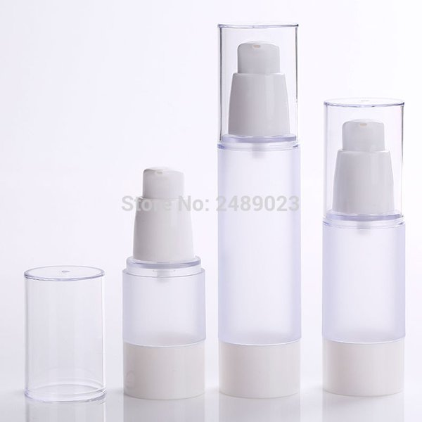 15ml 30ml 50ml Frosted Body Bottles Clear Airless Vacuum Pump Empty for Refill Container Lotion Serum Cosmetic Liquid 10pcs/lot