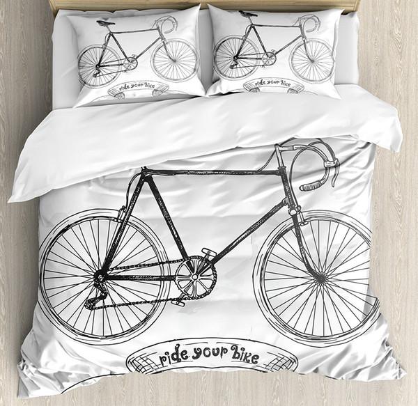Edredon Bicicleta.Compre Conjunto De Capa De Edredon De Bicicleta Montar Sua Moto Letras Com Nostalgico Conjunto De Roupa De Capa De Edredon Bicicleta Montar Com Suas