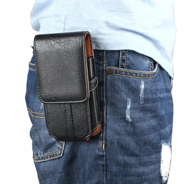 """wholesale Leather Pouch Belt Shockproof Phone Case For Multi Smart Phone 5.1 inch / 5.5"""" / 6.3 Inches Cover climb bag Holster funda"""