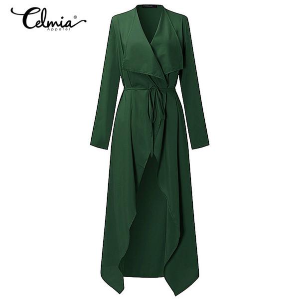 6 Color Fashion Women Trench Coat Long Outerwear Belt Elegant Cardigan Thin Windbreaker Casual Coat Female Clothes Autumn S-3XL