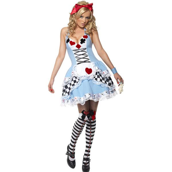 Ropa de Halloween Disfraces de Cosplay Adultos V Cuello Fiesta Festavil Sexy una pieza Disfraces de Mujer Dreess S-3XL