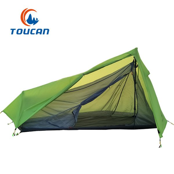 2018New ultra-light outdoor tents 15D coated silicone waterproof fabric camping tent