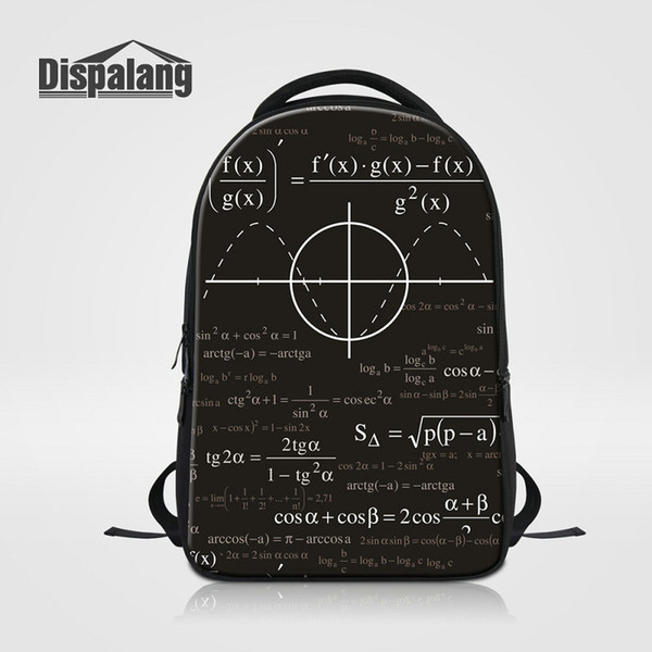 Newest Children School Bag Mathematical Function Formula Backpack Rucksack Men Laptop Back Pack Mochila Bolsa Knapsack Womens Travel Bagpack
