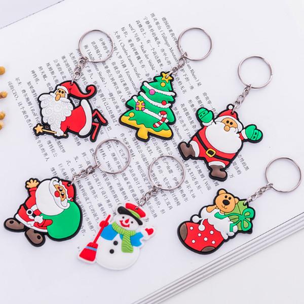 Sıcak Noel Anahtar Toka Hediye Noel Ağacı Süs Dekorasyon Parti Tatil Noel Hediyesi Noel Anahtarlık Anahtarlık Xmas Hediye