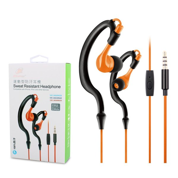 Stylish color 3.5mm sports wired headphones Built-in microphone to talk headphones for mobile phone flat mp3