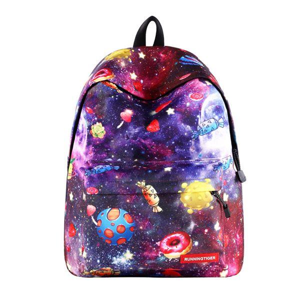 Mini Backpack Women Star Bagpacks Teenager Girls School Bags 14 Inch Anti Theft Laptop Back Pack Canvas Female Printing Mochila