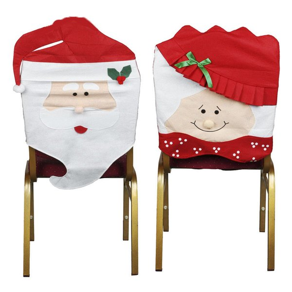 Christmas Chair Decoration Supplies For Dining Table Home Party Colorful Nowman Shaped Chair Cover Back Seat Coverings