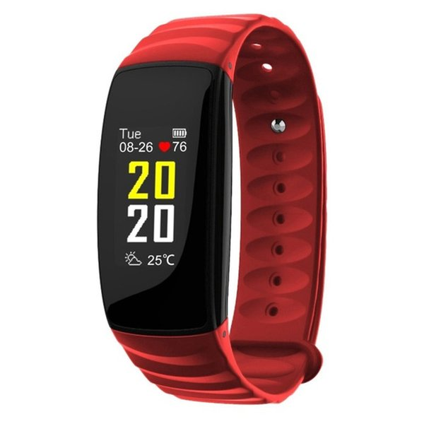 H107 Bluetooth Smart Bracelet Activity Tracker Heart Rate Monitoring Smart Band with 0.96 inches TFT Color Screen