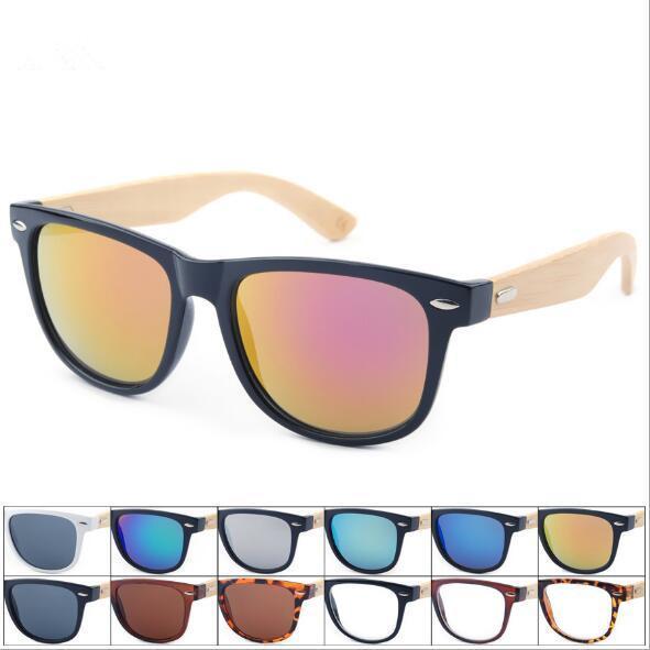 Retro Ahşap Güneş Erkekler Bambu Sunglass Unisex Spor Gözlük Ayna Güneş Gözlükleri Shades Ahşap Seyahat Gözlük CCA9118 50 adet