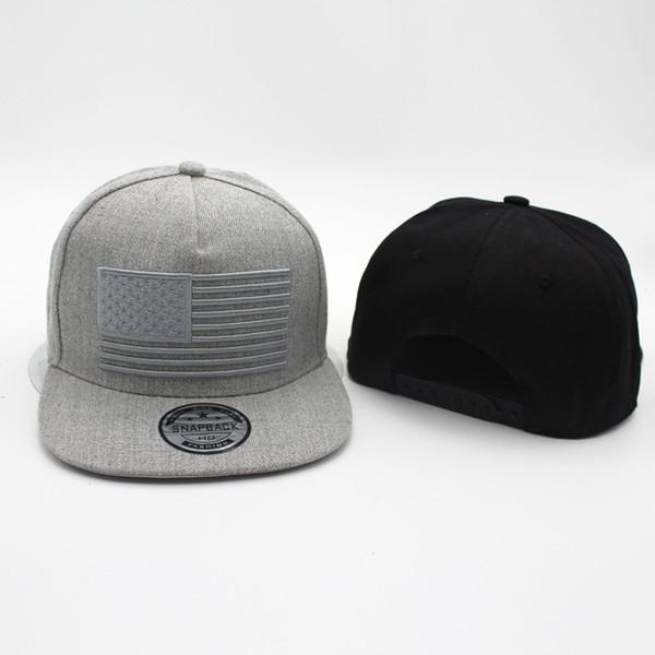 Populäre USA-Flaggen-Stickerei-Hüte kühle flache Rand-Baseballmütze 3D Flaggen-Hysteresen-Hut Ourdoor verbindet Kappen-angesagte Hopfen-Modekappen