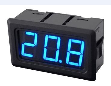 Mavi yazı tipi 20VDC