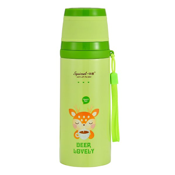 350ML Lovely Cartoon Animal Pattern Vacuum Thermos Cup For Women Kids water Bottle Stainless Steel Water Bottle Mug Child Cute