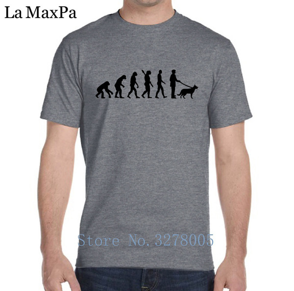 La Maxza Personalized T-Shirt For Men Clothes German Shepherd Men T Shirt Family Cotton Tshirt Man 2018 Crew Neck Top Quality